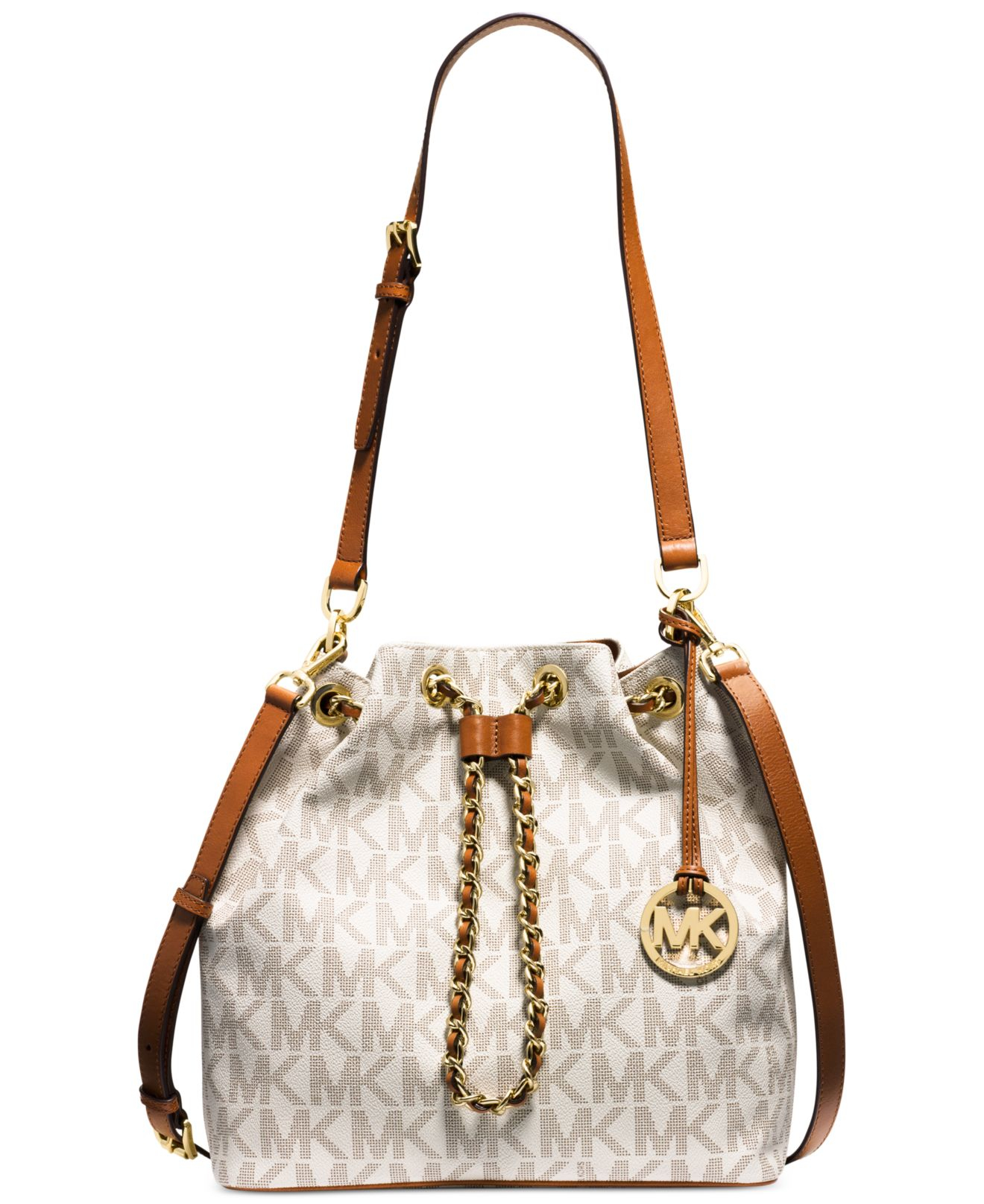 Michael kors Michael Frankie Large Drawstring Convertible Shoulder ...