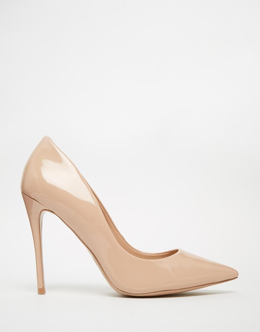 c8b32376af6c Lyst - ALDO Stessy Pale Pink Leather Heeled Pumps in Natural
