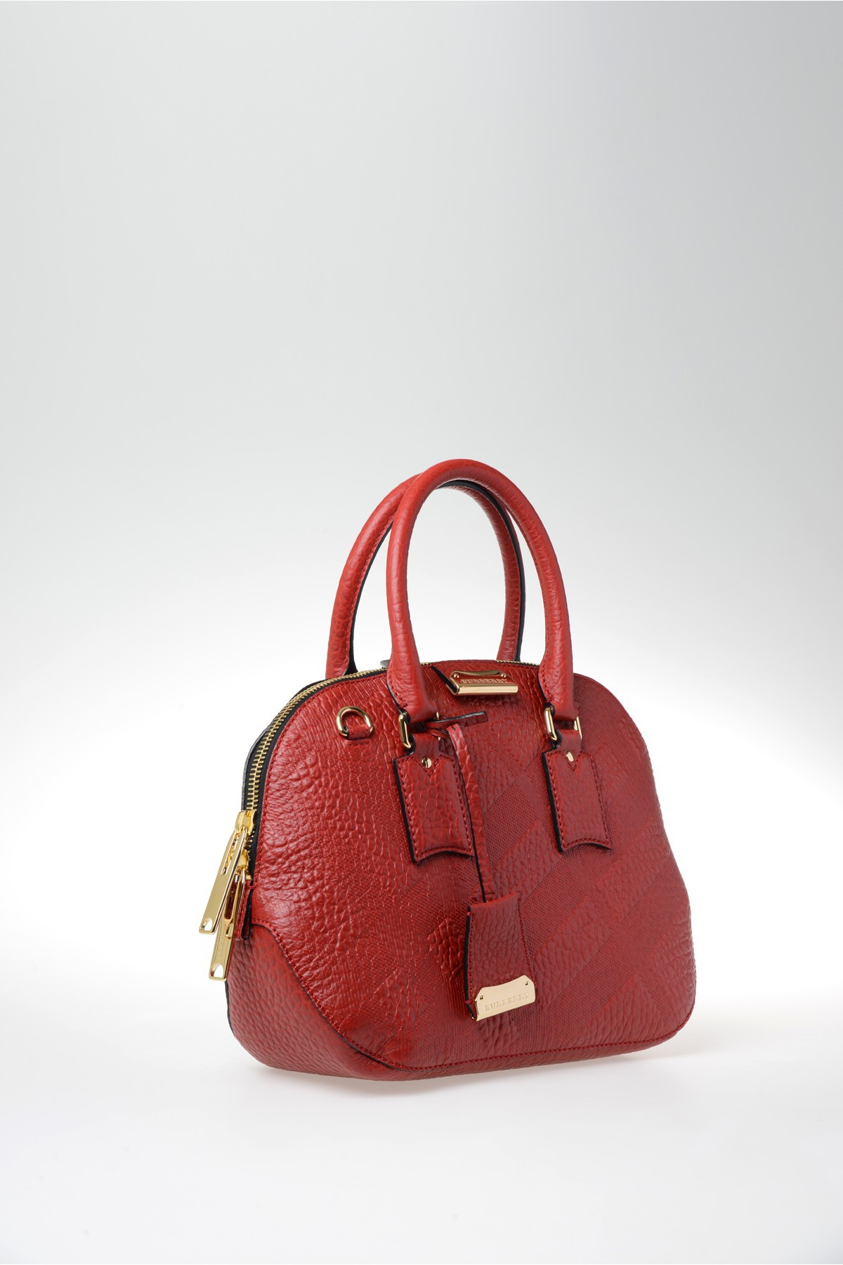 burberry grain leather bag in red lyst