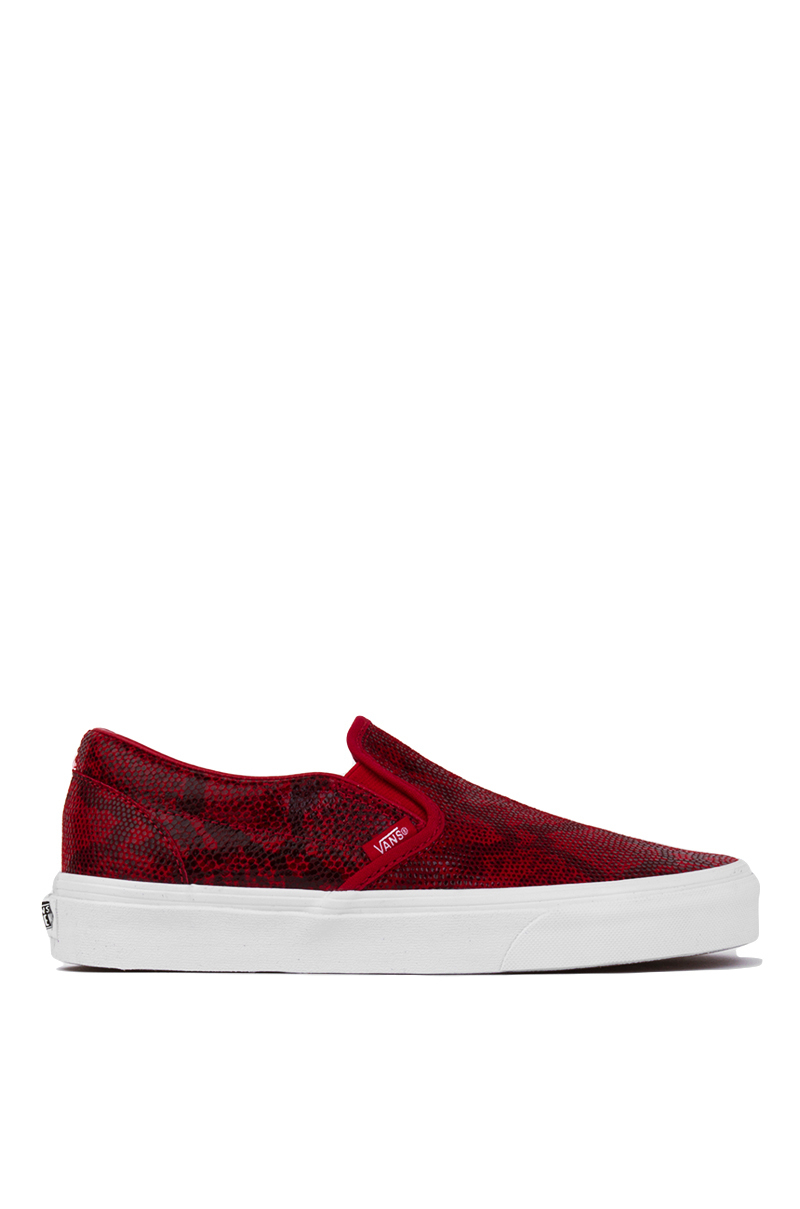 Lyst - Vans Classic Chili Pepper Pebble Snake Slip-on Sneakers in Red 779d8bf44