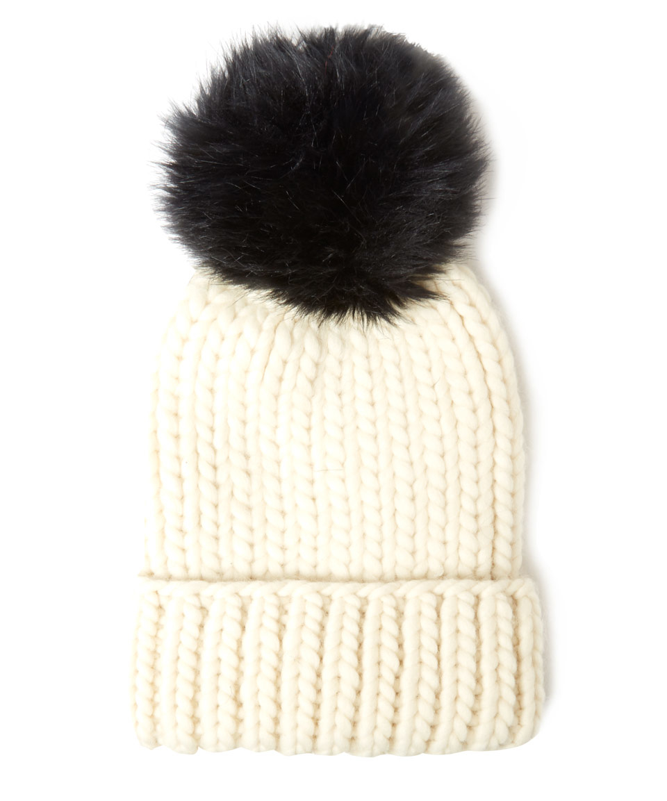 Womens Rain Chunky Rib-Knit Wool Beanie Eugenia Kim HAE00l
