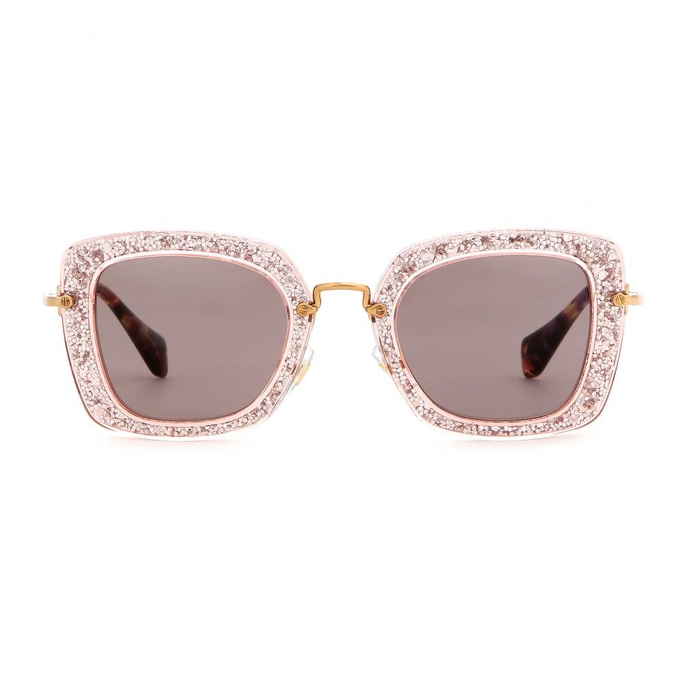 Miu Miu Pink Glitter Sunglasses