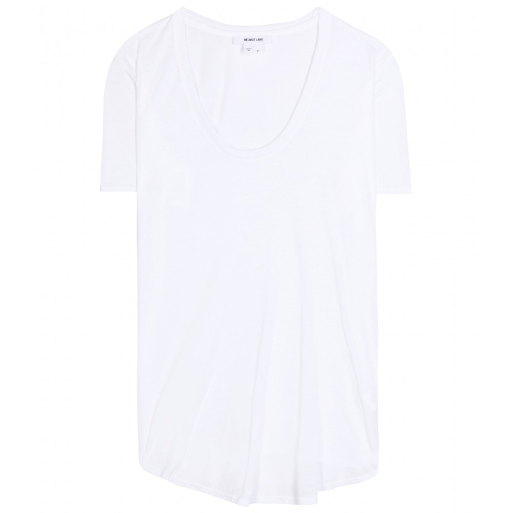 helmut lang jersey t shirt in white lyst. Black Bedroom Furniture Sets. Home Design Ideas