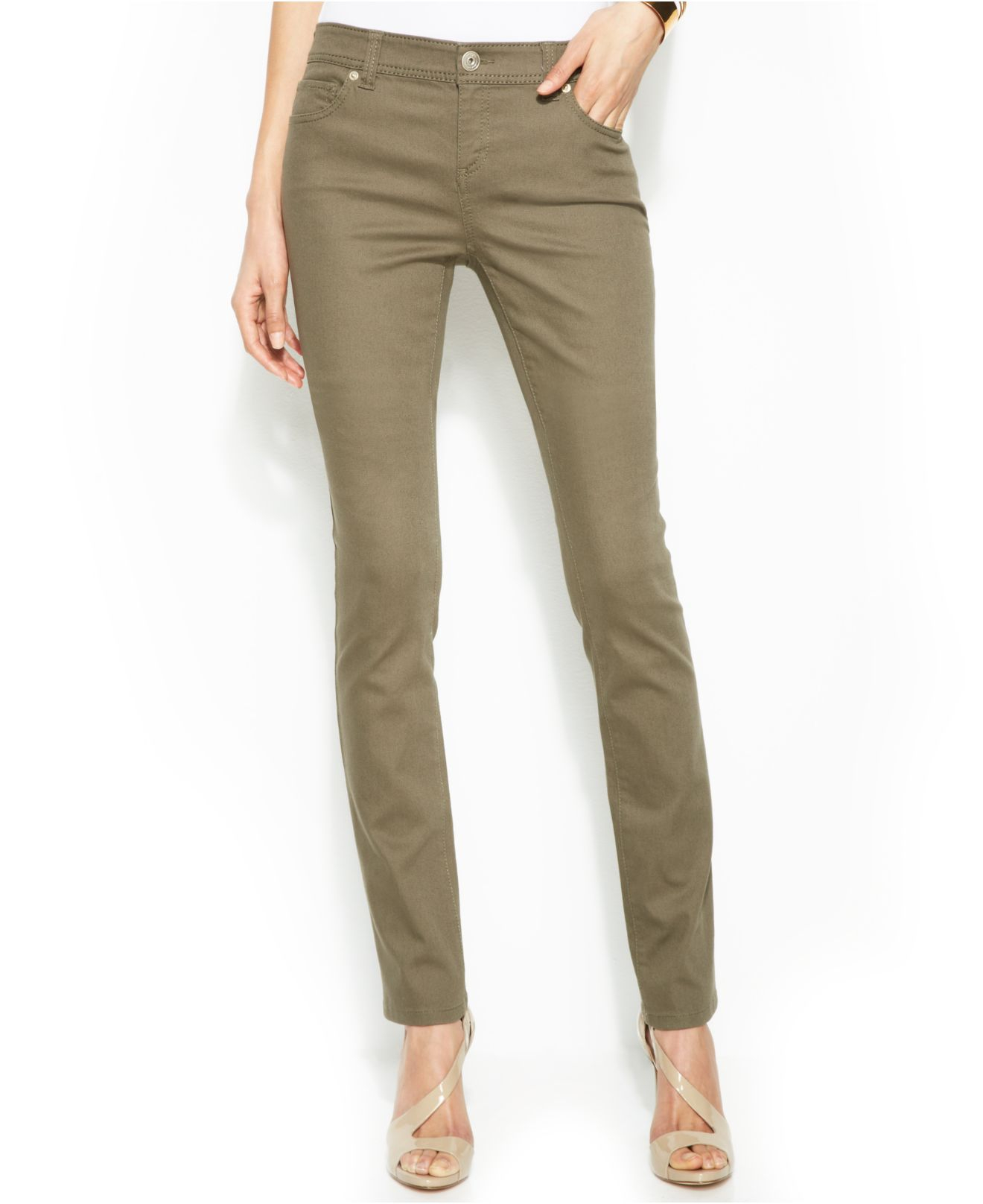 Inc international concepts Colored Skinny Jeans in Green | Lyst