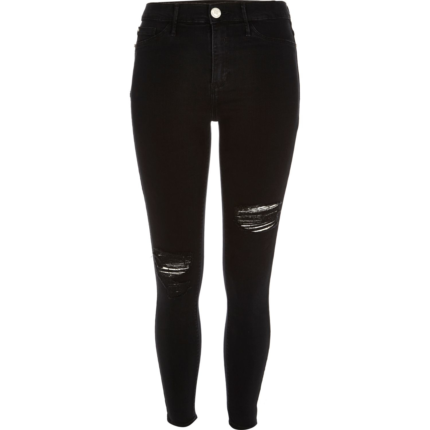 Ripped black jeans river island