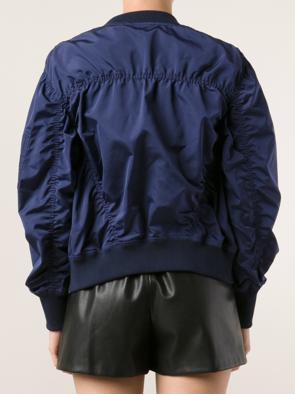 Lyst Acne Studios Encore Taffeta Jacket In Blue