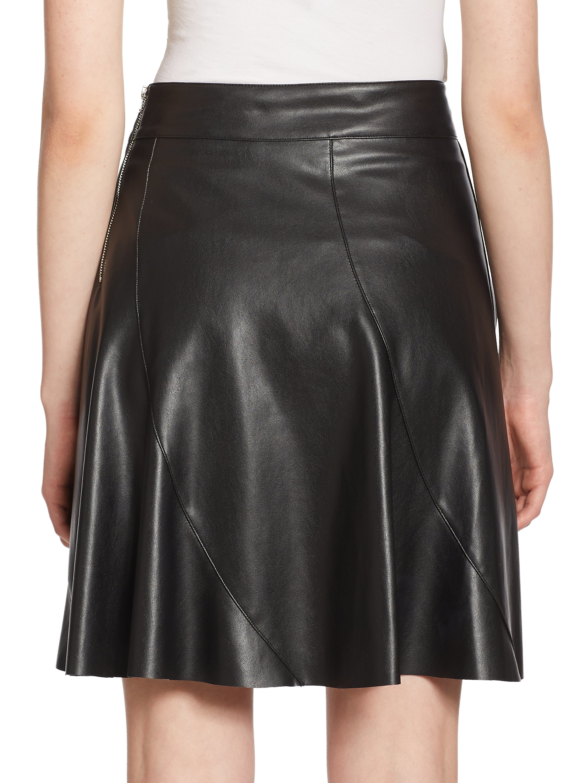 bailey 44 sedgwick faux leather skirt in black lyst