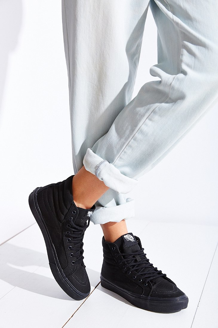 Vans SK8 Hi Slim Black Sneakers  Women
