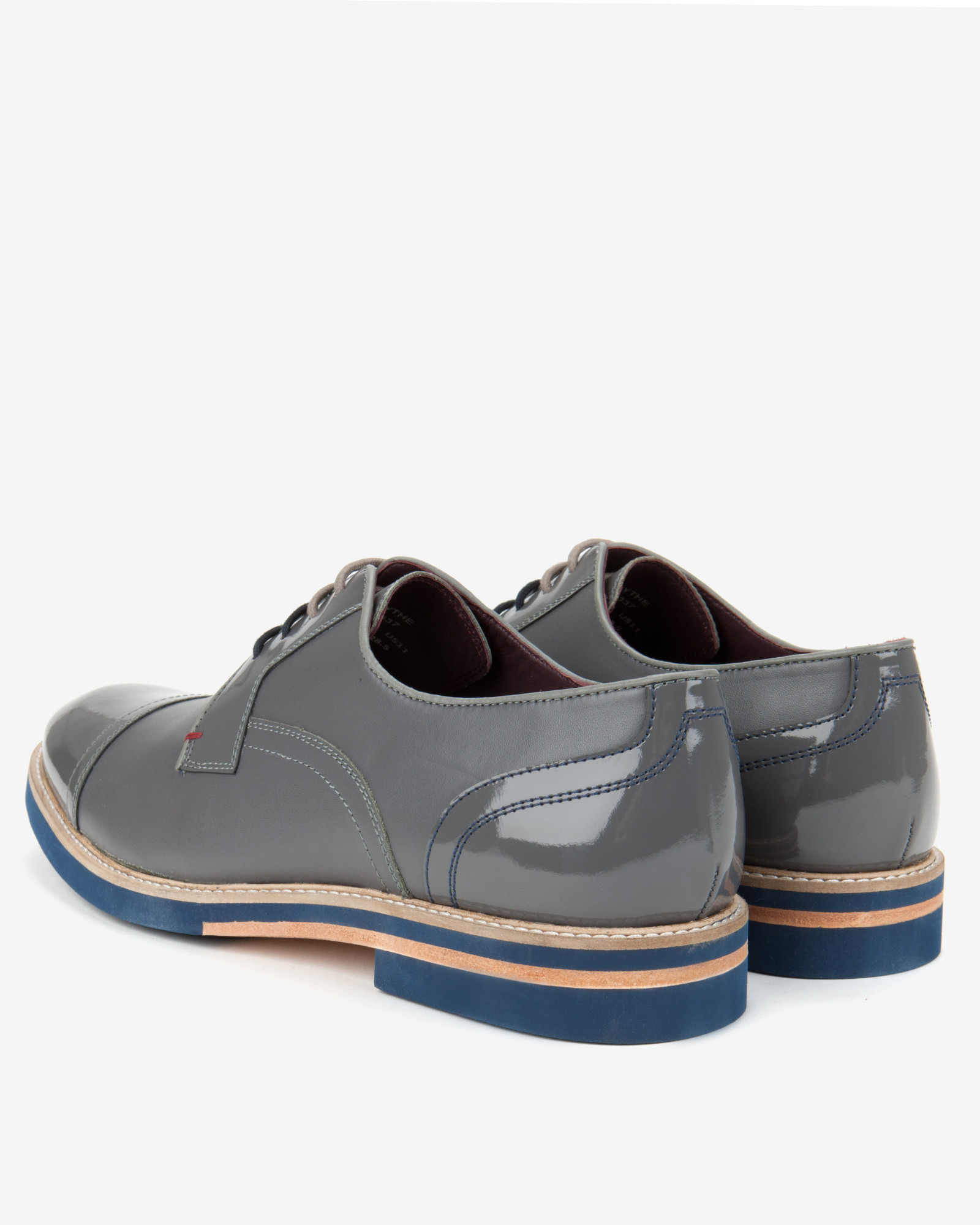 Braythe 2 Derby Shoes In Grey Leather - Grey Ted Baker Buy Cheap Recommend SnUENmUZ