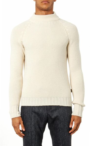 Sweater High Neck High-neck Wool Sweater in