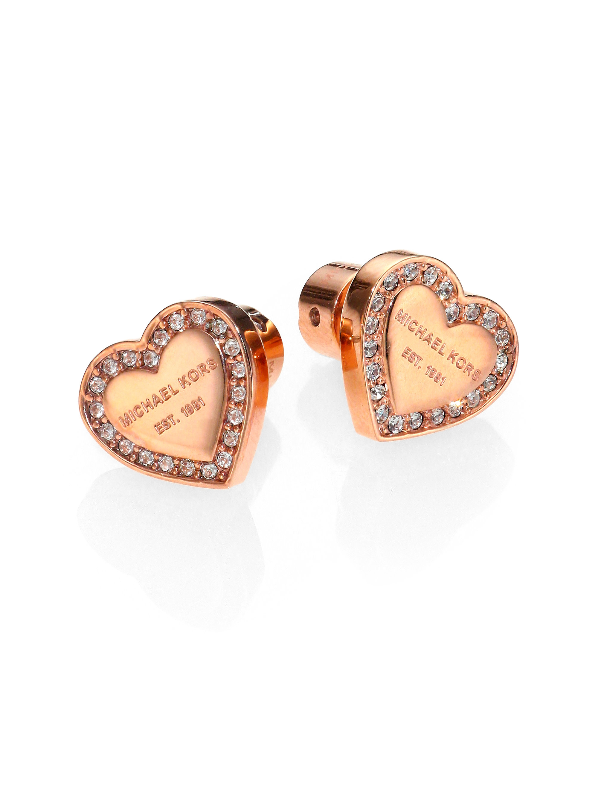 6177ddb886276a Michael Kors Rose Gold Heart Earrings Uk - The Best Produck Of Earring
