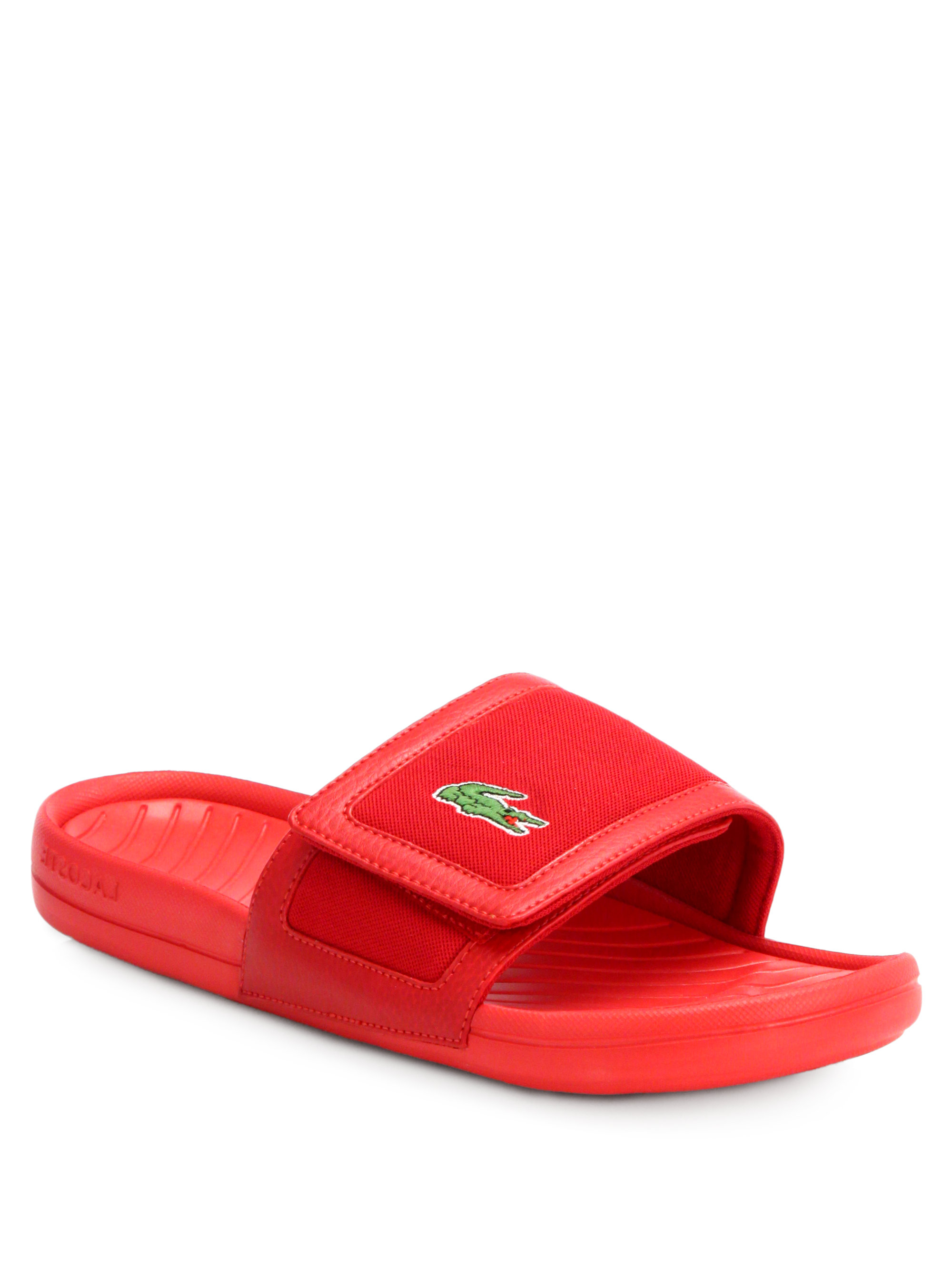 49e7a598ec0c17 Lyst - Lacoste Velcro Sandals in Red for Men