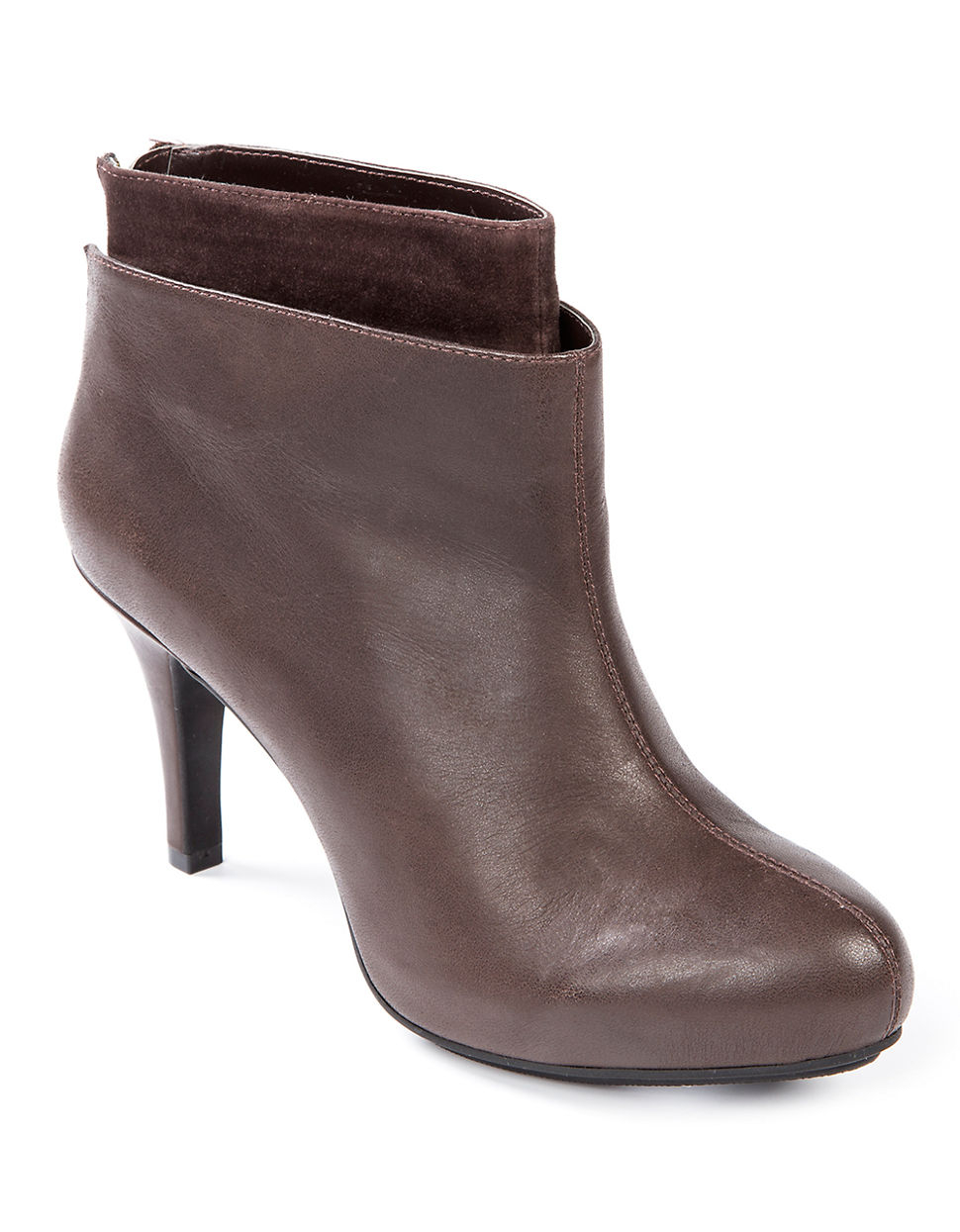 me melina high heel ankle boots in brown lyst
