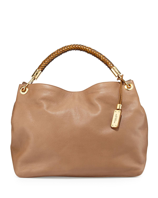 4b7d0d7d68d488 Lyst - Michael Kors Large Skorpios Shoulder Bag in Brown
