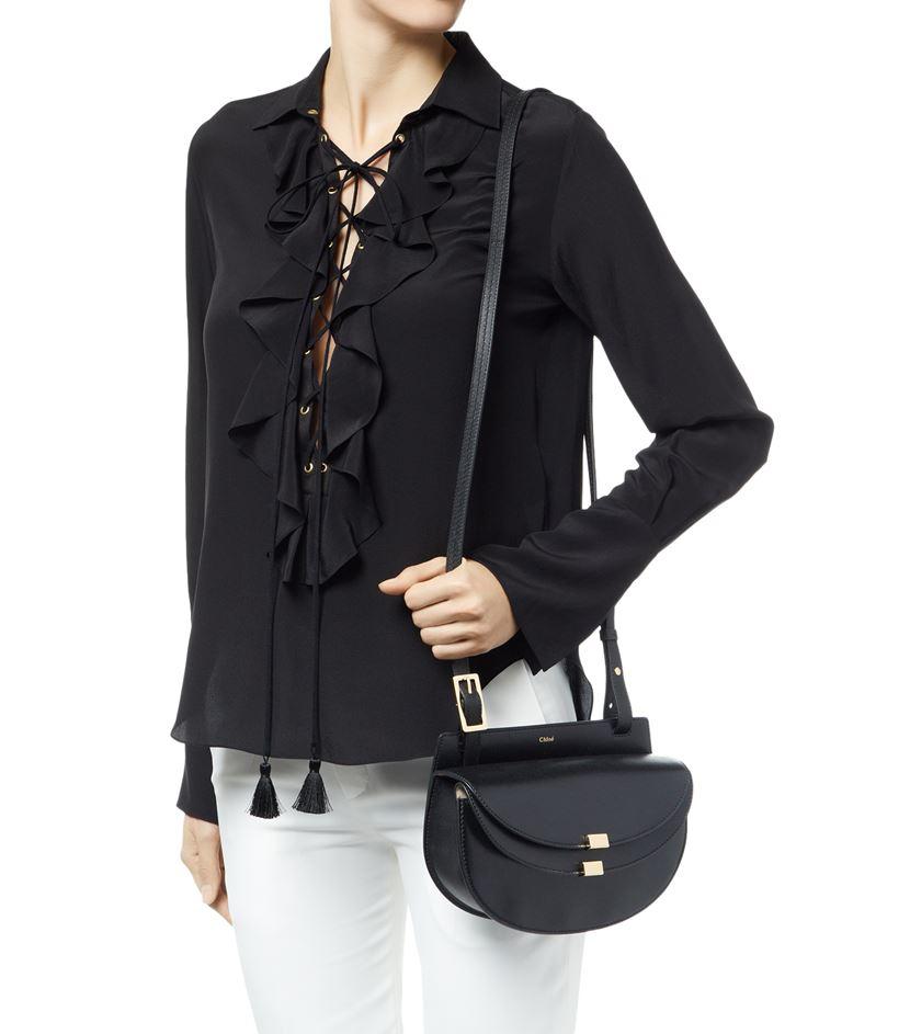 Chlo�� Mini Georgia Bag in Black | Lyst