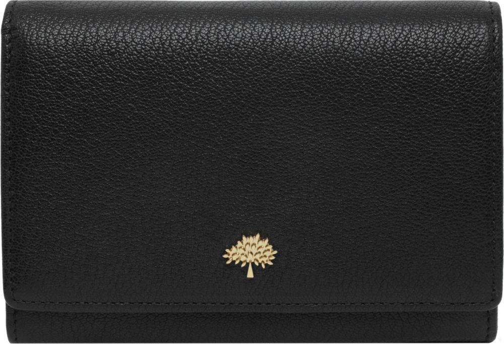 ... discount code for mulberry tree glossy goat leather french purse in  black lyst 64aa0 7b14f 4f1fb089bdcd8