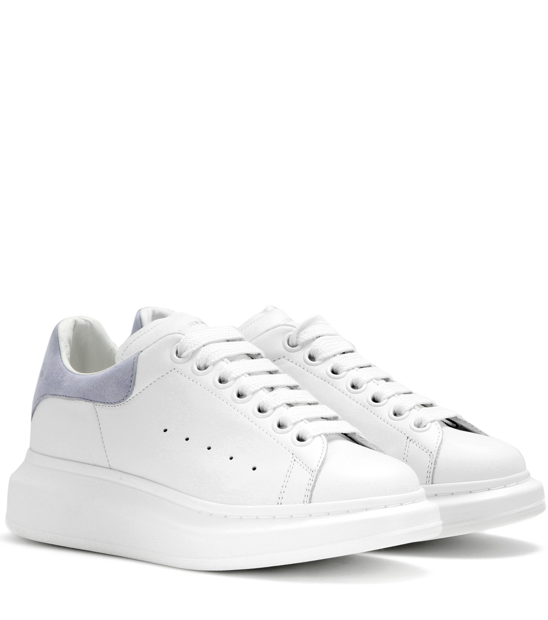 e57d927324ab Lyst - Alexander McQueen Leather And Suede Sneakers in White