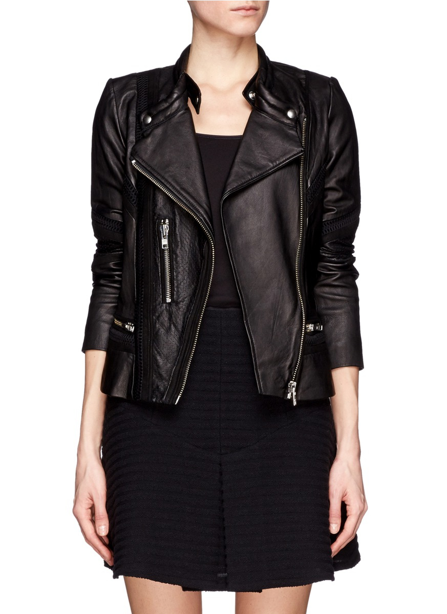 Iro black leather jacket