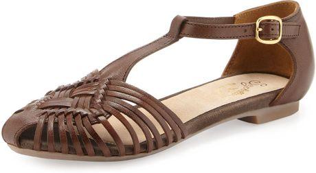 Seychelles Holdin My Breath Huarache Sandal In Brown Dk