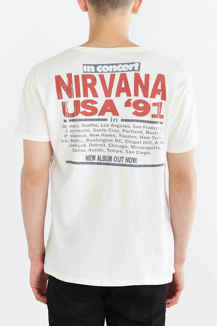 42749c6b Trunk Ltd. Nirvana Usa 1991 Tee in White for Men - Lyst
