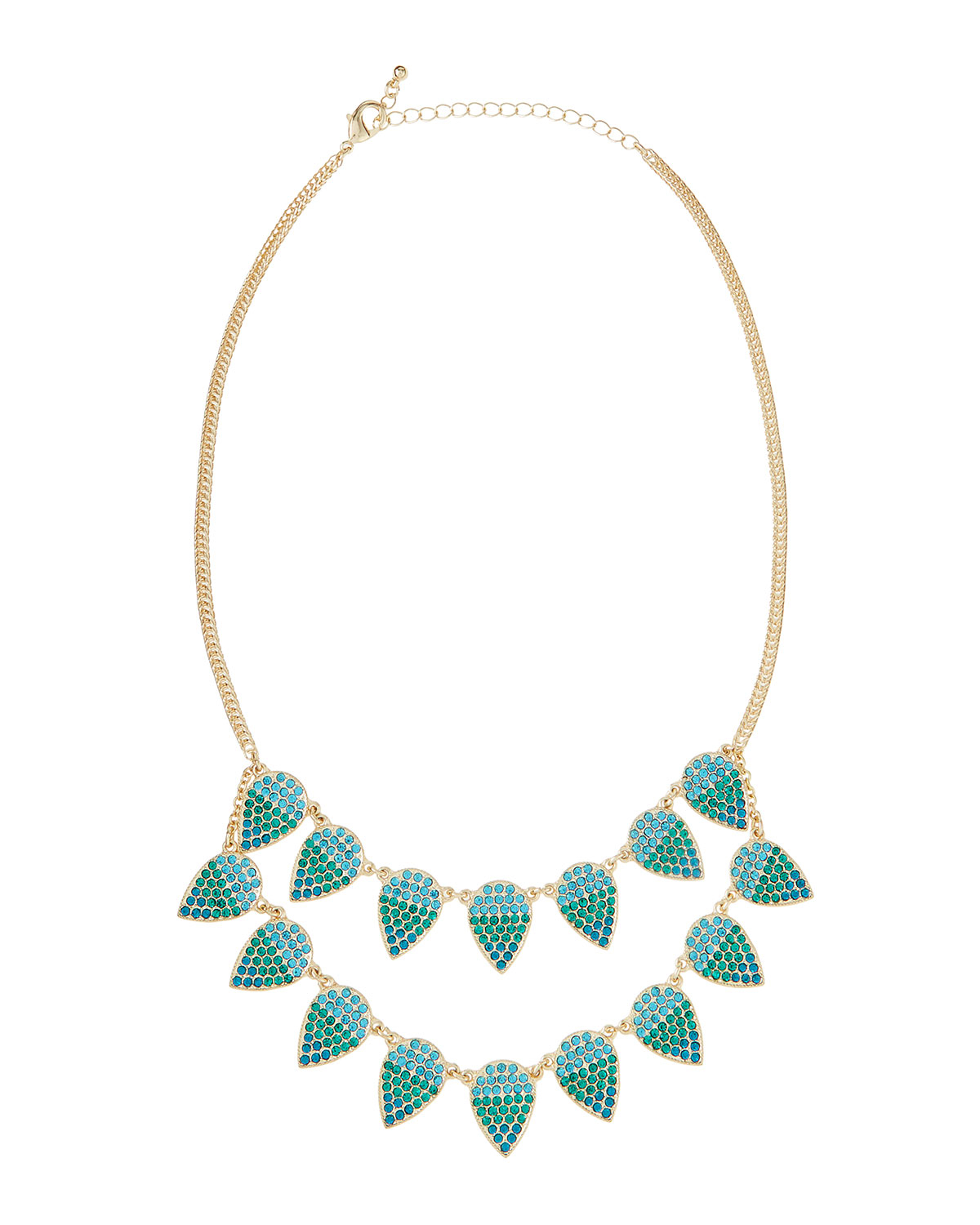 fragments ombre pav 233 leaf necklace in green lyst