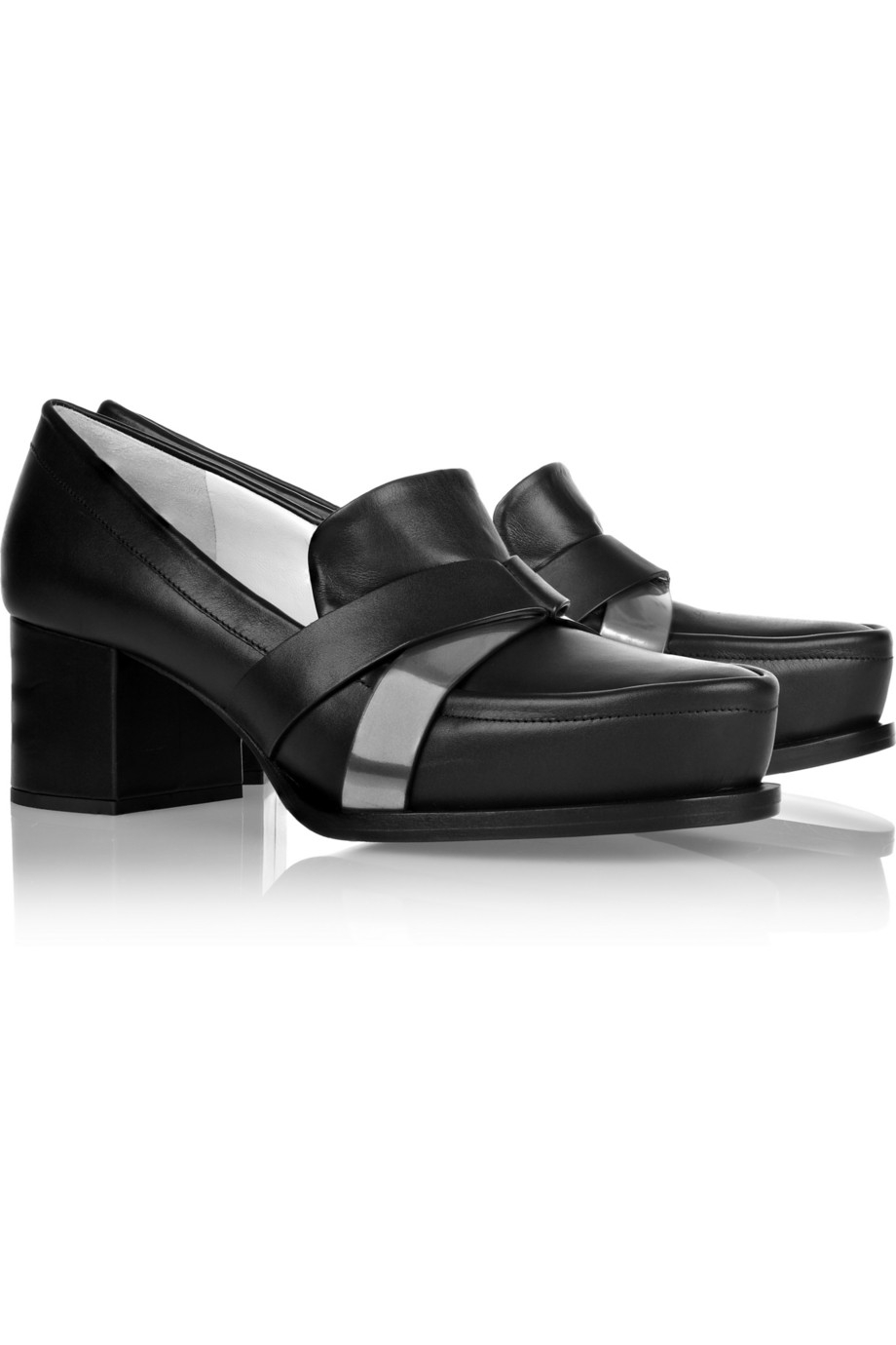 Jil Sander Leather Pumps Clearance Online Amazon Top Quality ZBY0zs