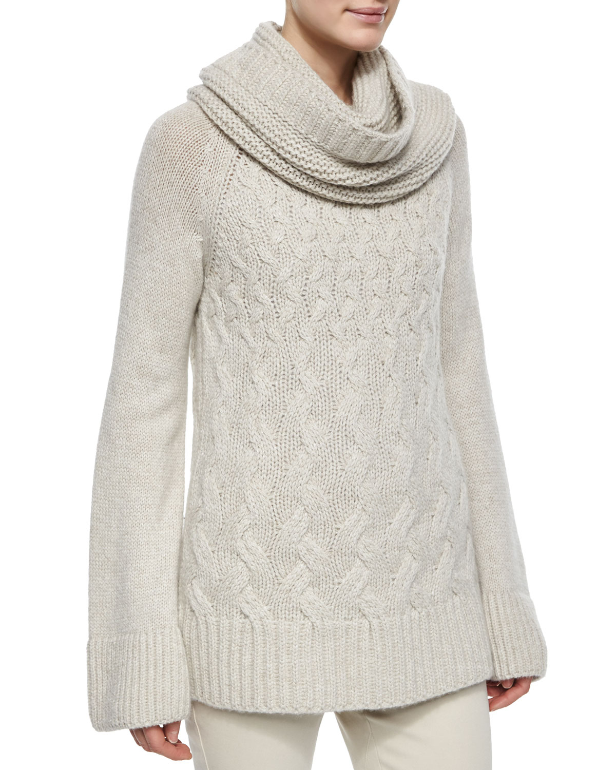Lyst Loro Piana Cashmere Chunky Cable Knit Tunic Sweater