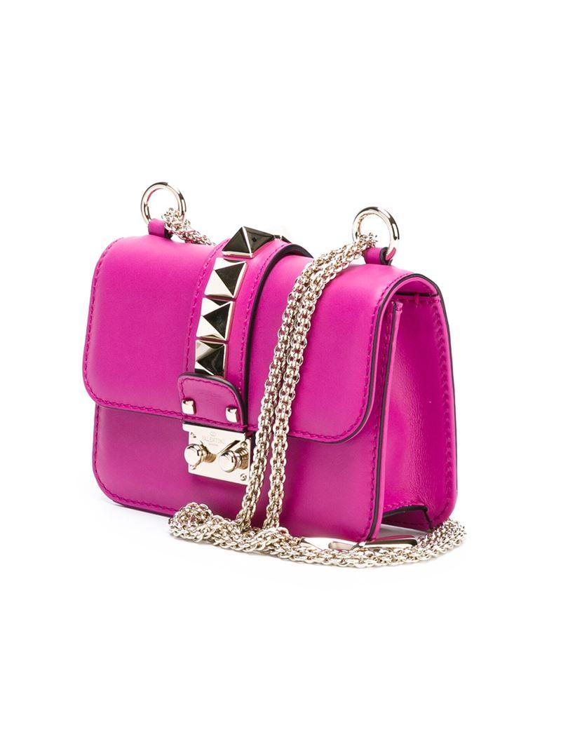 Valentino Garavani Glam Lock lipstick shoulder bag - Pink & Purple Valentino ATCWE0d