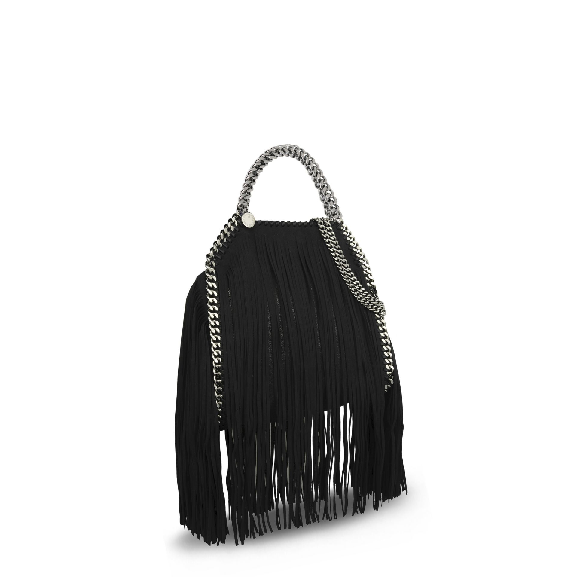 Stella McCartney Black Falabella Shaggy Deer Fringed Mini Tote in ... 379e7c0f24