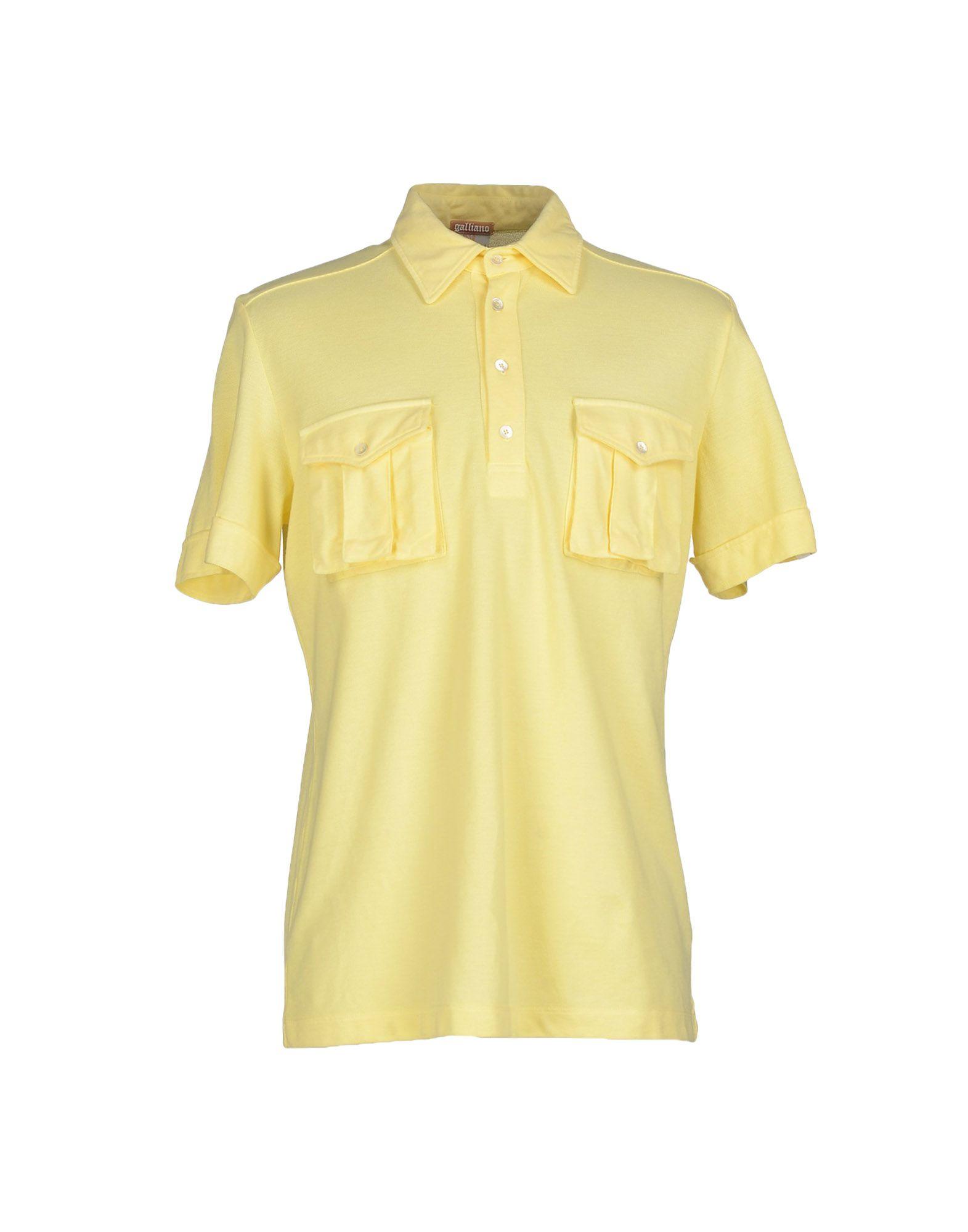 Lyst John Galliano Polo Shirt In Yellow For Men