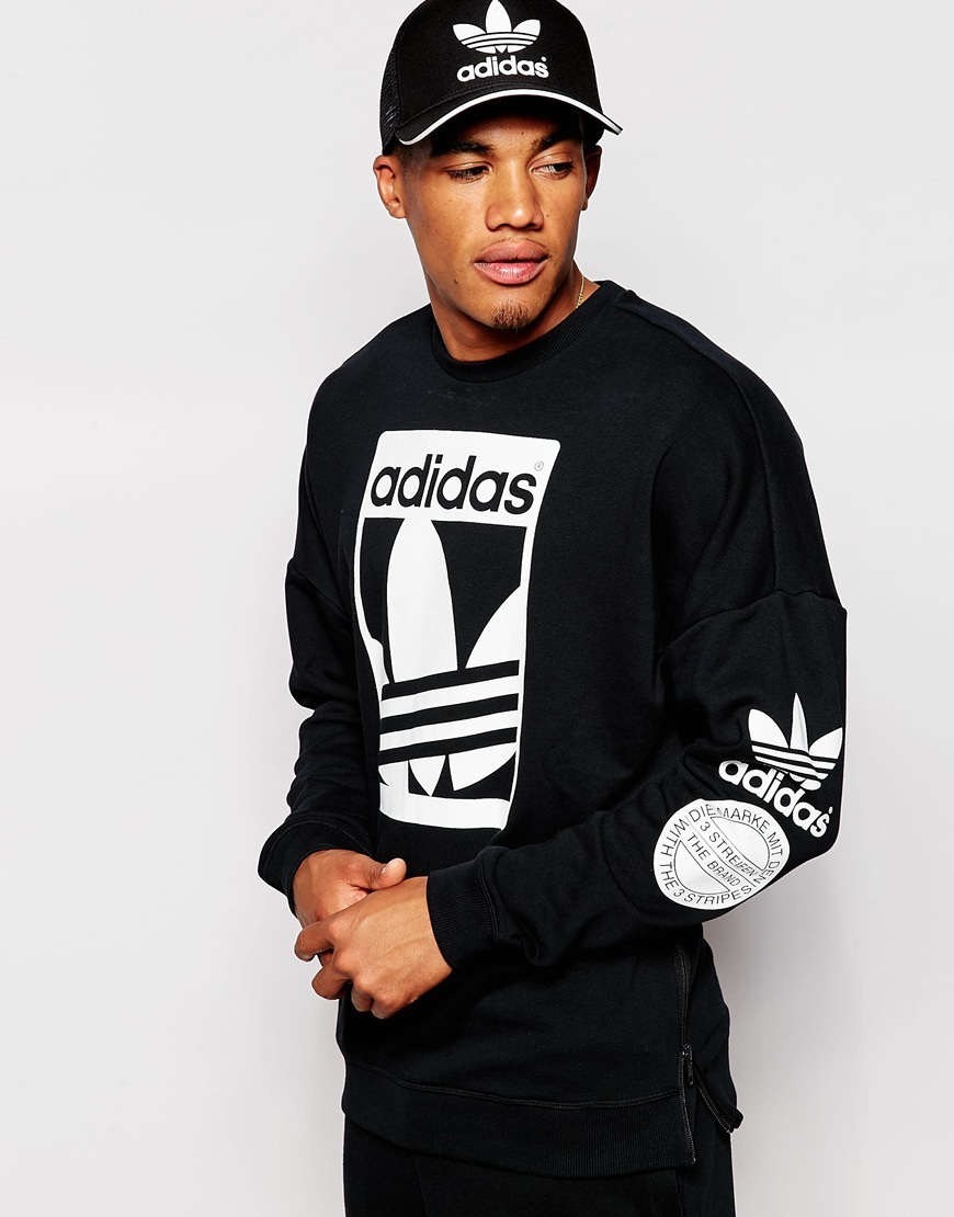 ce0559d52 Adidas Originals Mens Contrast Crew Neck Sweatshirt - BCD Tofu House