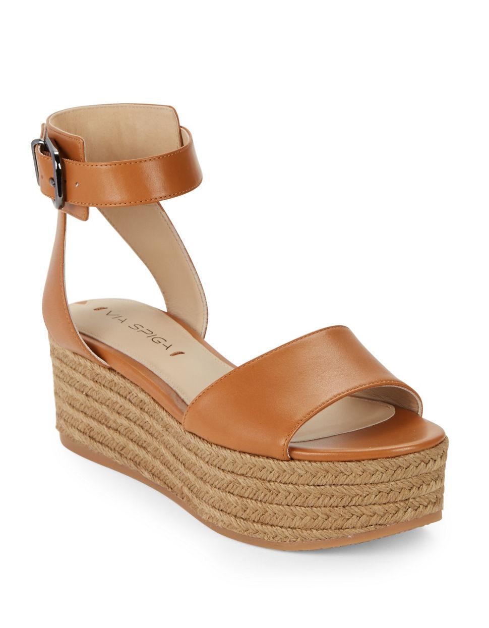 Via Spiga Nemy Espadrille Platform Sandals In Brown Lyst