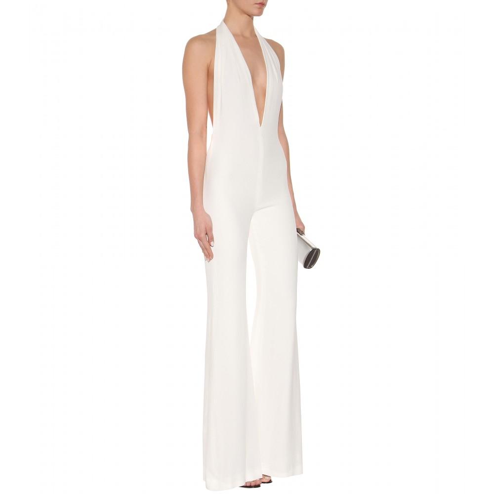 0d3b5f525b1 Lyst - Balmain Crepe Jumpsuit in White