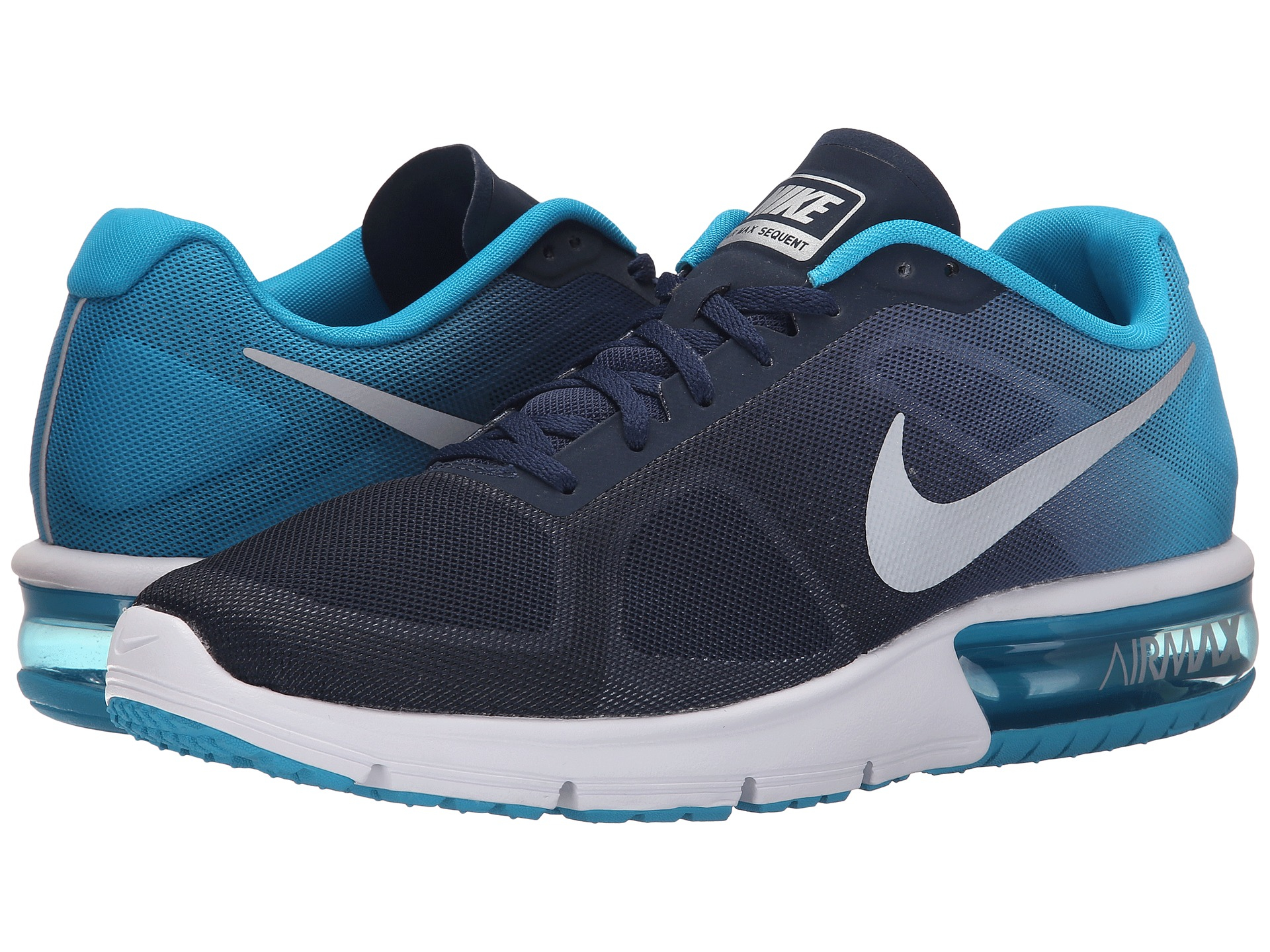 nike air max sequent in blue for men lyst. Black Bedroom Furniture Sets. Home Design Ideas