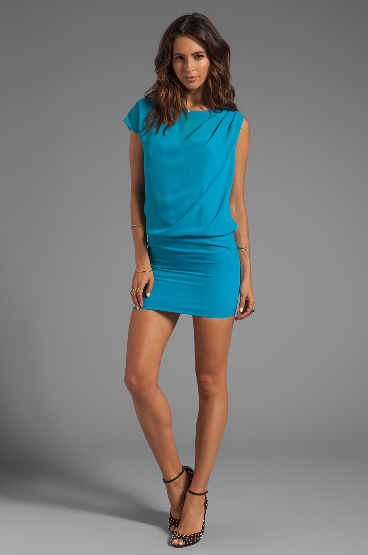 Lyst Black Halo Emilio Mini Dress In Turquoise In Blue