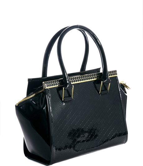 4b201b66020 Ted Baker Quilted Winged Tote Bag in Black (00black) - Lyst