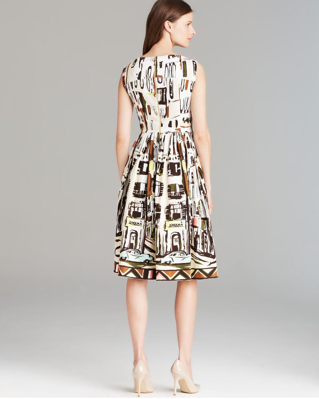 Lyst Kate Spade New York Scoop Neck Landscape Dress