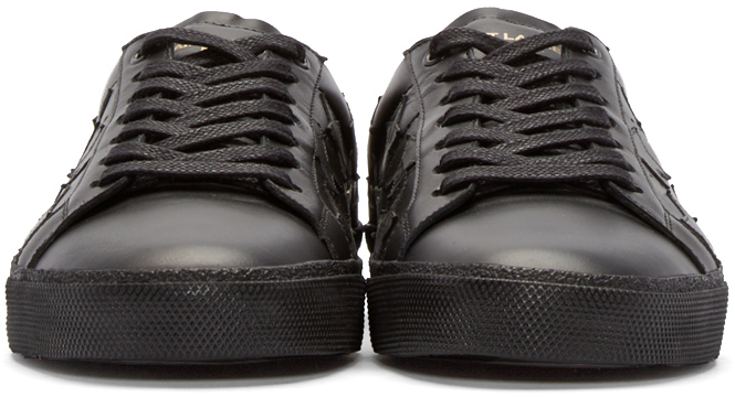 Black Laurent Sneakers Stars Leather Classic Saint Court Lyst In SCnZvWU5Ew 881ef1002