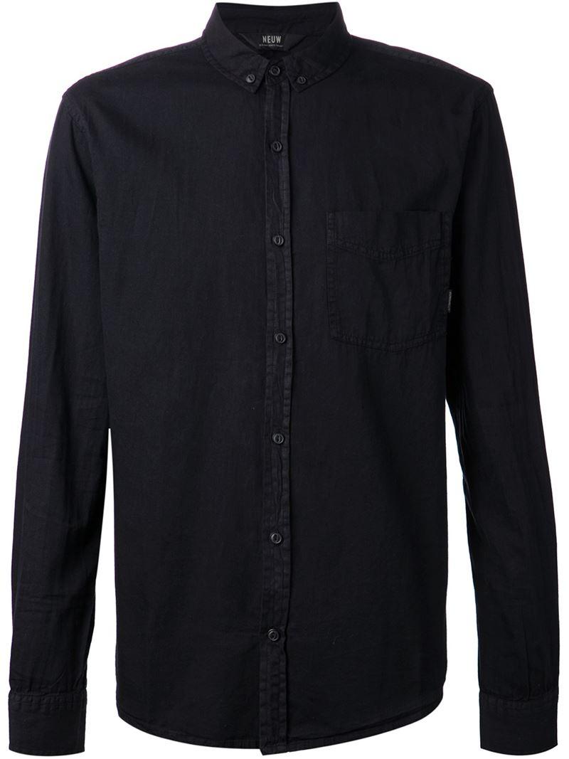 Neuw Button Down Shirt In Black For Men Lyst