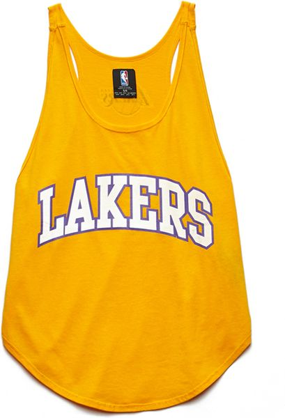 Forever 21 Los Angeles Lakers Tank in Yellow (Gold/white)