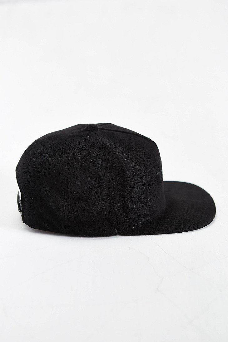d81ae79d374 Lyst - Stussy Stock Suede Snapback Hat in Black for Men