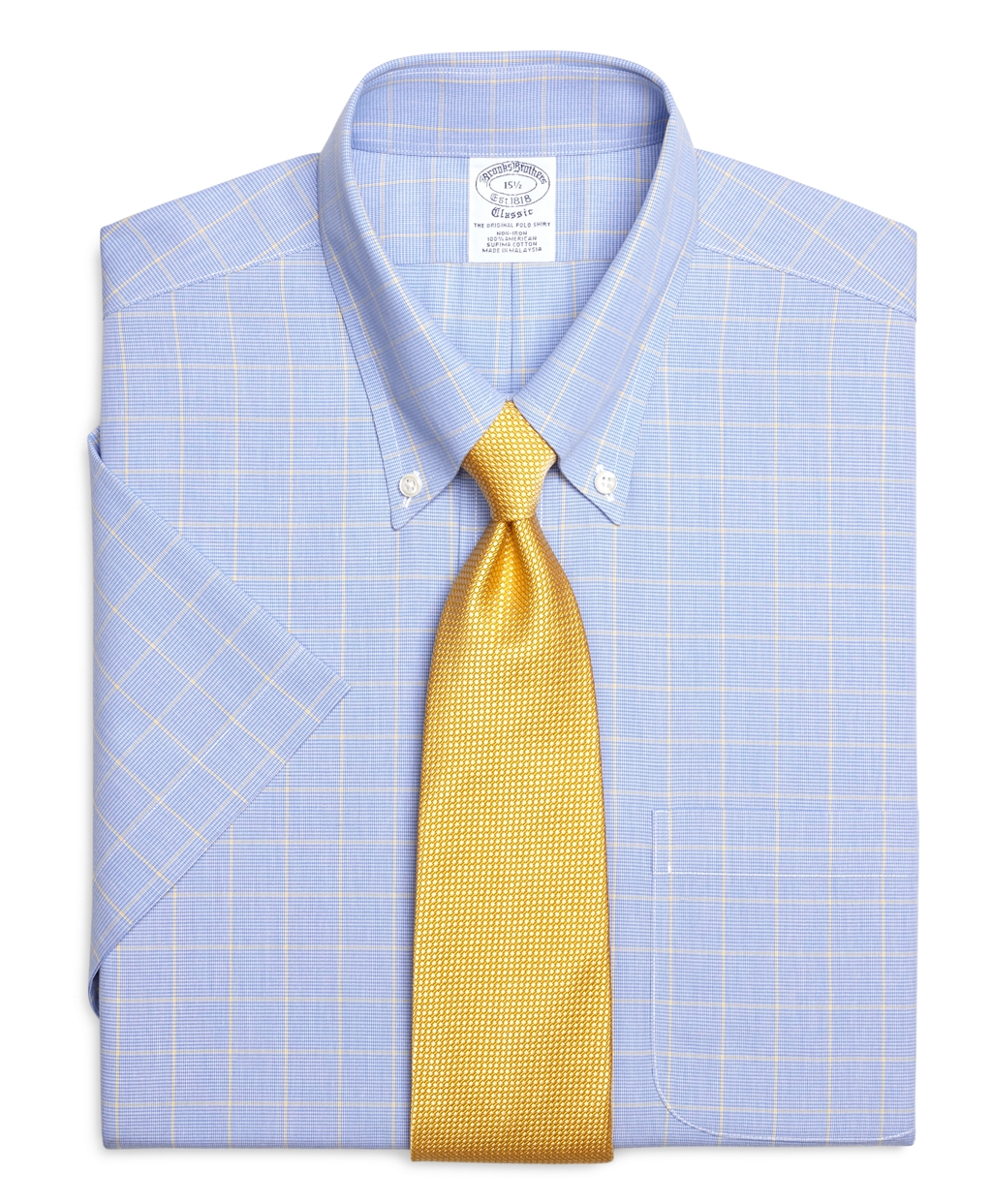 Lyst brooks brothers non iron regent fit short sleeve for Brooks brothers dress shirt fit