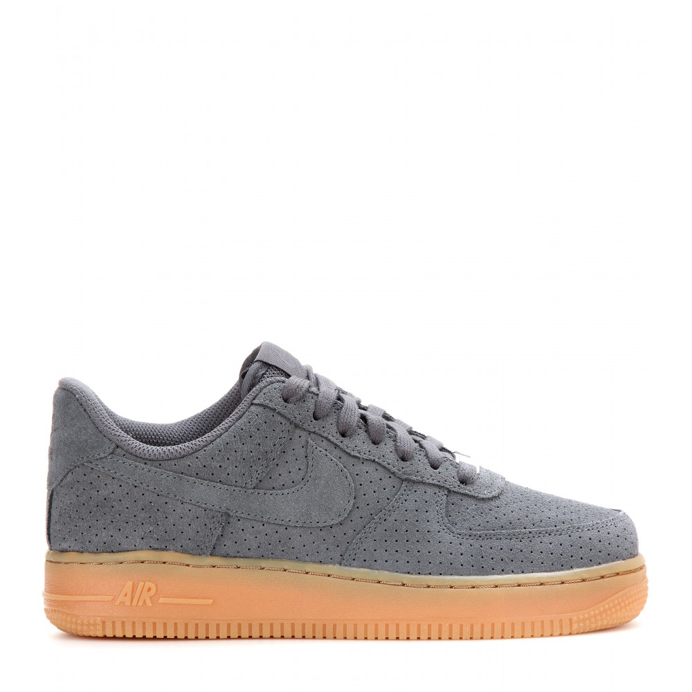 lyst nike air force 1 suede sneakers in gray. Black Bedroom Furniture Sets. Home Design Ideas