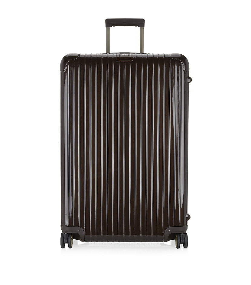 rimowa salsa deluxe multiwheel suitcase 81cm in black for men lyst. Black Bedroom Furniture Sets. Home Design Ideas