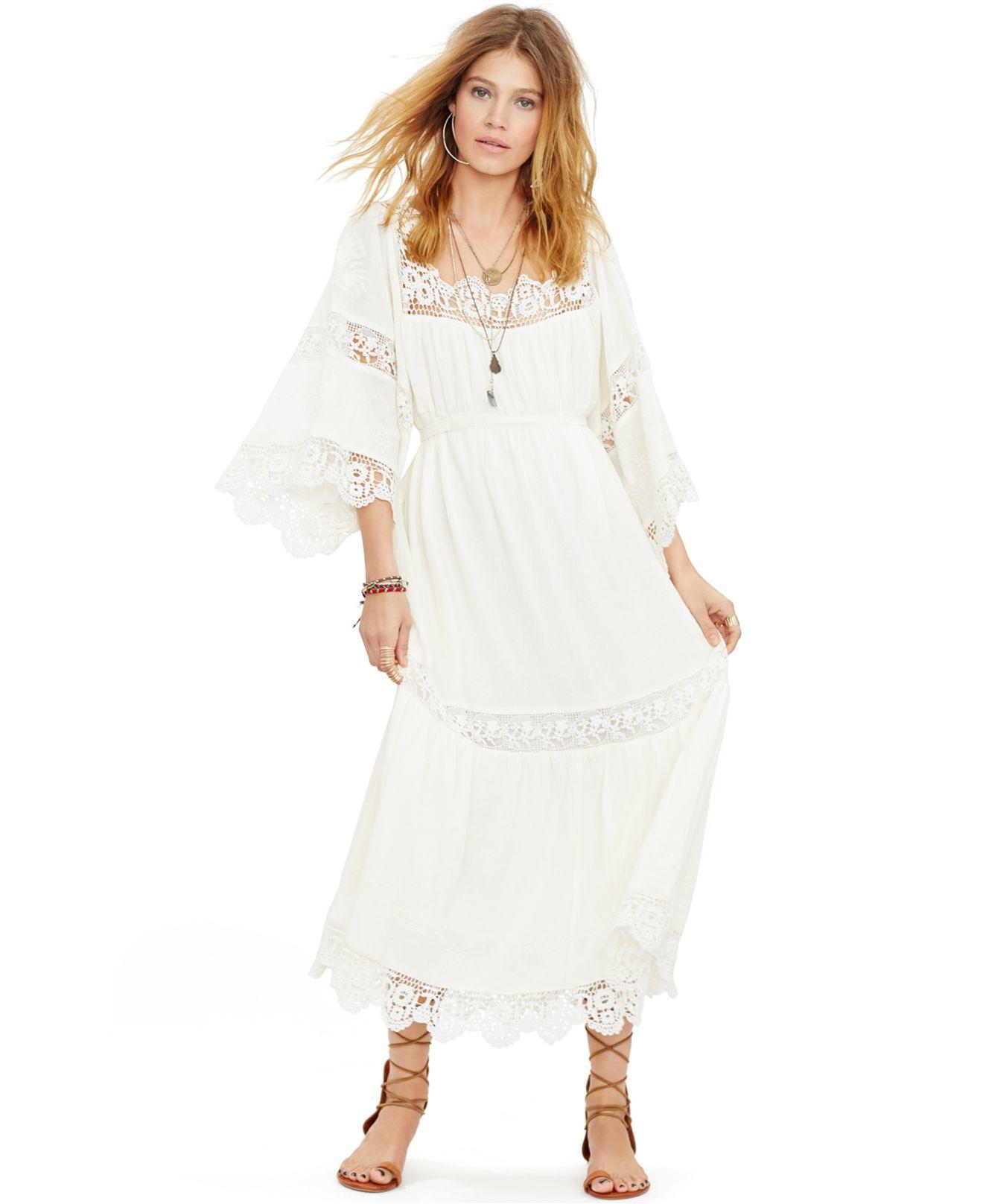 Images of White Bohemian Maxi Dress - Reikian
