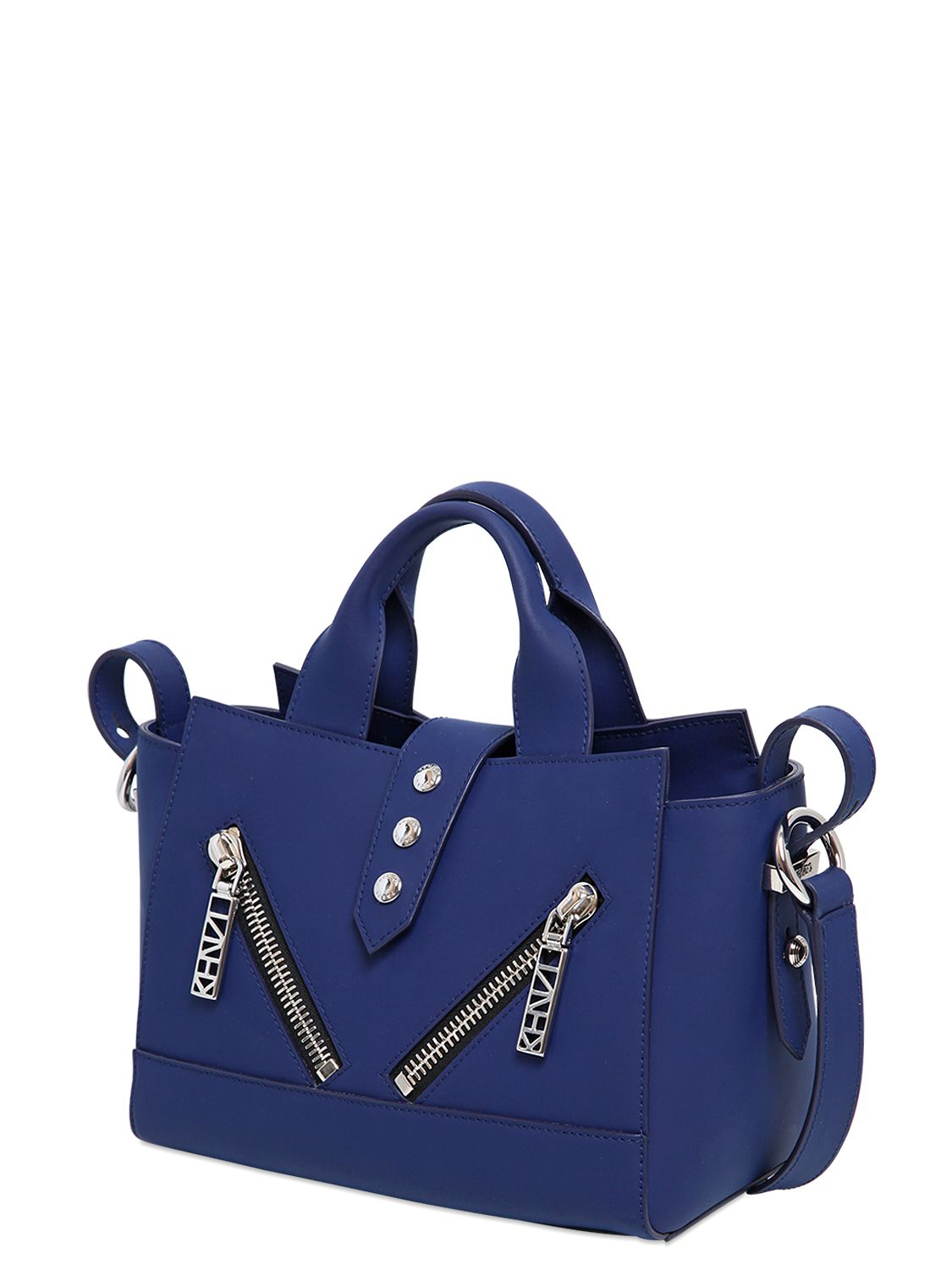 158e72ad48b KENZO Mini Kalifornia Rubberized Leather Bag in Blue - Lyst