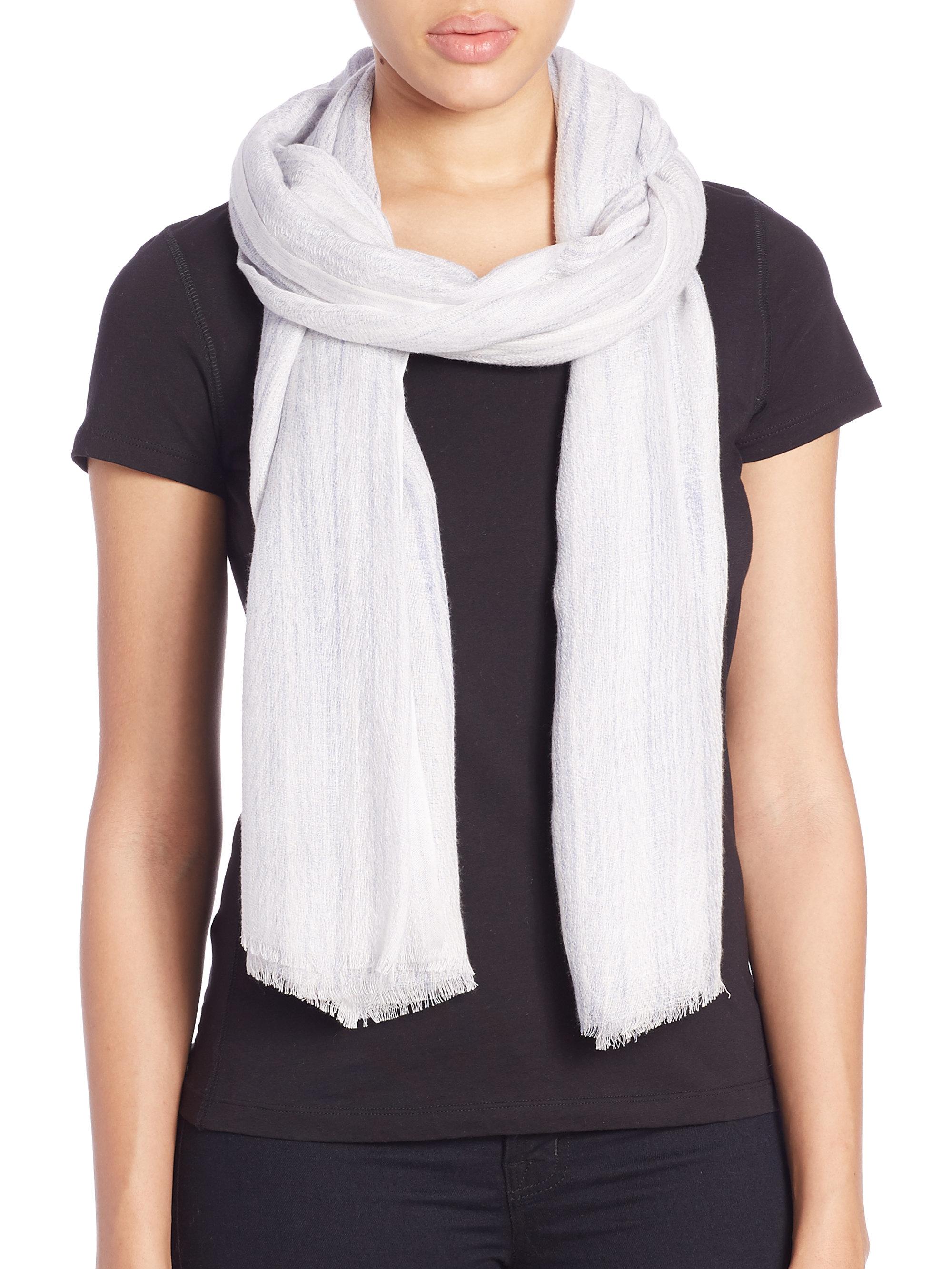 tilo wood grain cotton modal scarf in white lyst