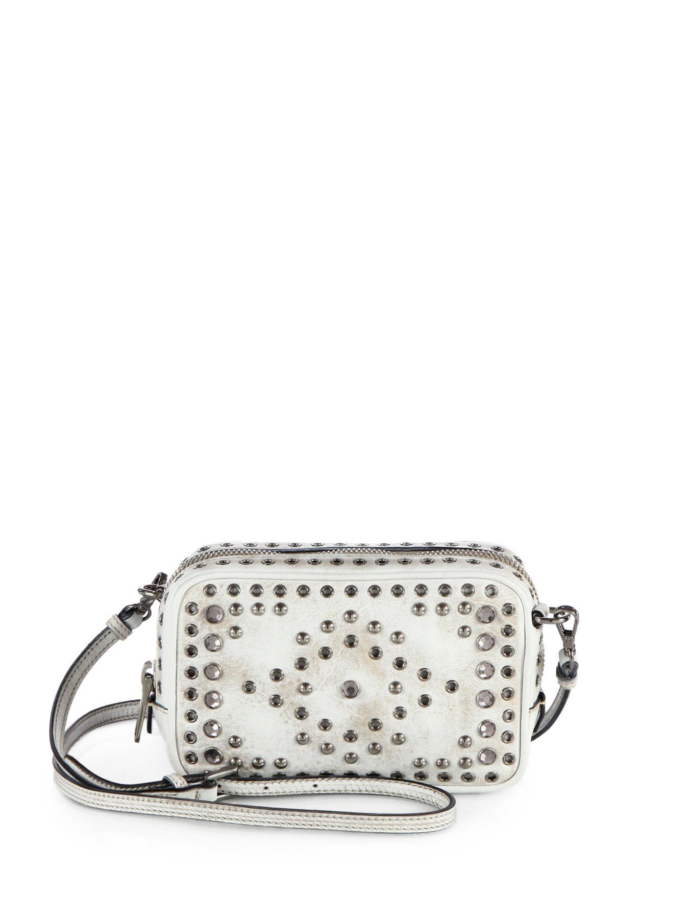 prada discount purses - Prada Vitello Vintage Embellished Camera Messenger Bag in Brown ...