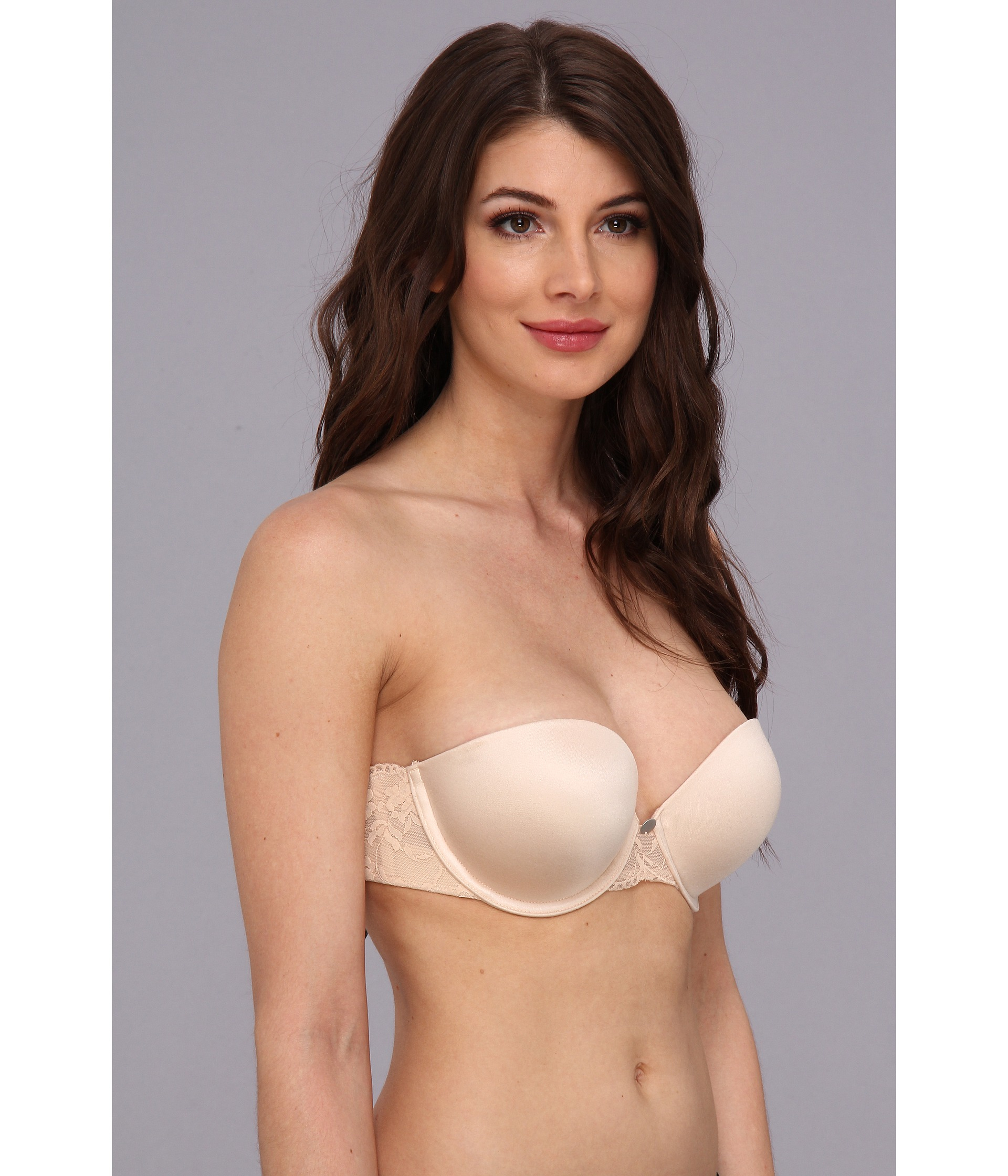 Dkny Super Glam Strapless Push Up Bra 458111 In Natural Lyst