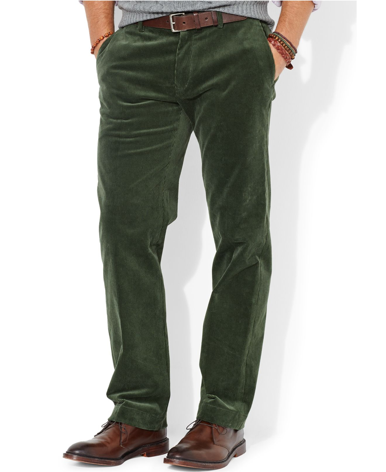 Polo ralph lauren Classic-Fit Newport Corduroy Pants in Green for ...